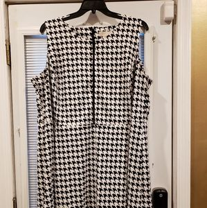 Houndstooth a line silhouette dress